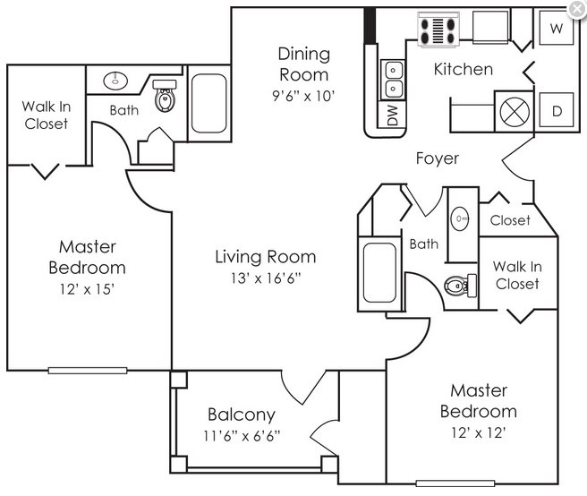 2 Bedrooms 2 Bathrooms Apartment for rent at Bell Preston Reserve in Cary, NC