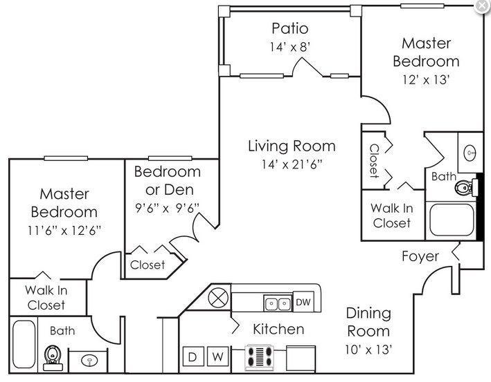 3 Bedrooms 2 Bathrooms Apartment for rent at Bell Preston Reserve in Cary, NC