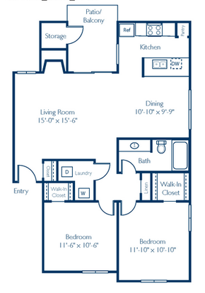 2 Bedrooms 1 Bathroom Apartment for rent at Regatta at Lake Lynn in Raleigh, NC