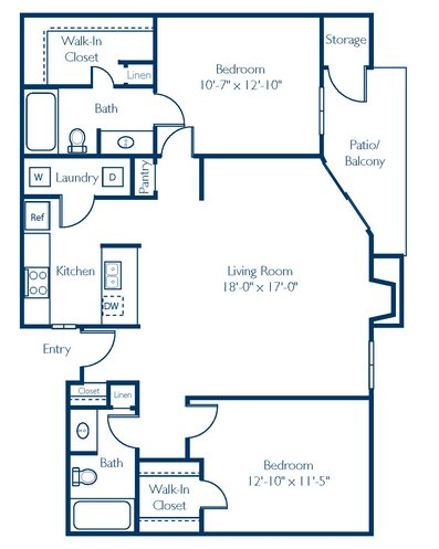 2 Bedrooms 2 Bathrooms Apartment for rent at Regatta at Lake Lynn in Raleigh, NC