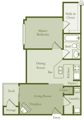 1 Bedroom 1 Bathroom Apartment for rent at Regency Place in Raleigh, NC