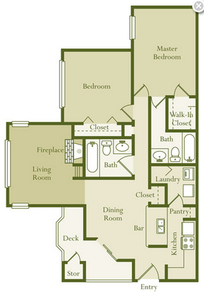 2 Bedrooms 2 Bathrooms Apartment for rent at Regency Place in Raleigh, NC