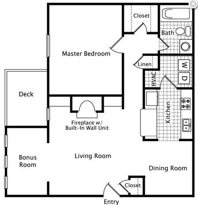 1 Bedroom 1 Bathroom Apartment for rent at Remington Place in Raleigh, NC