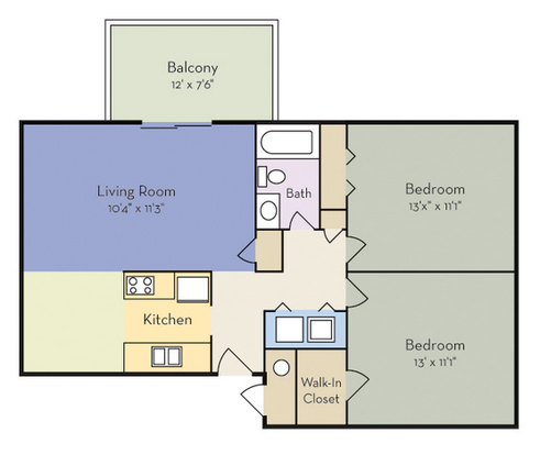 2 Bedrooms 1 Bathroom Apartment for rent at Spring Forest in Raleigh, NC