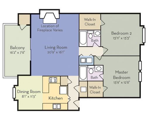 2 Bedrooms 2 Bathrooms Apartment for rent at Spring Forest in Raleigh, NC