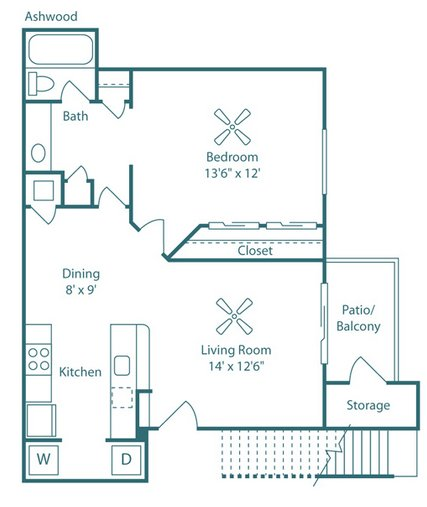 1 Bedroom 1 Bathroom Apartment for rent at The Park at North Ridge in Raleigh, NC