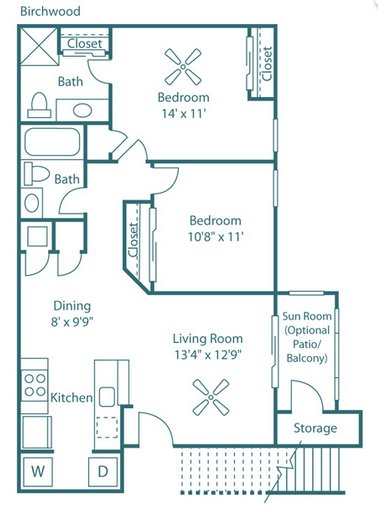 2 Bedrooms 2 Bathrooms Apartment for rent at The Park at North Ridge in Raleigh, NC