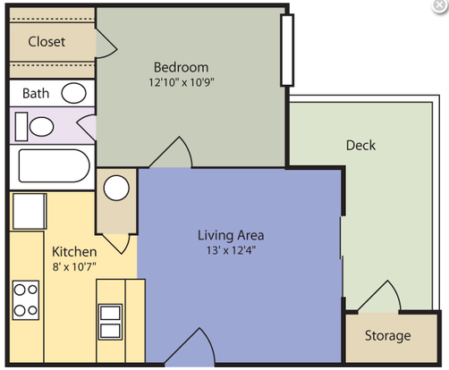 1 Bedroom 1 Bathroom Apartment for rent at The Reserve at Lake Lynn in Raleigh, NC