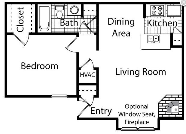 1 Bedroom 1 Bathroom Apartment for rent at The Timbers in Raleigh, NC