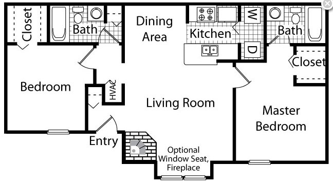 2 Bedrooms 2 Bathrooms Apartment for rent at The Timbers in Raleigh, NC