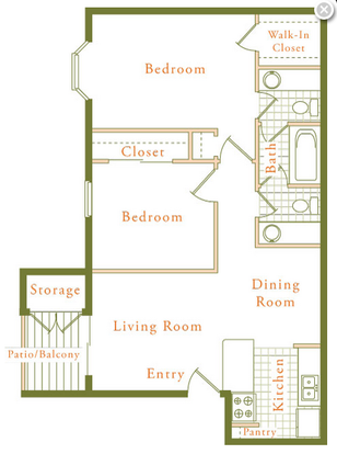 2 Bedrooms 1 Bathroom Apartment for rent at The Trestles in Raleigh, NC