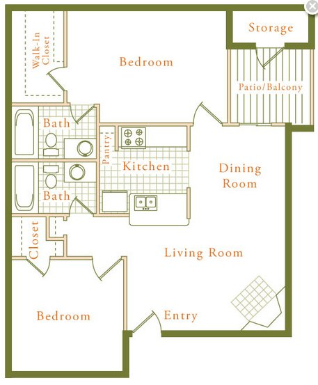 2 Bedrooms 2 Bathrooms Apartment for rent at The Trestles in Raleigh, NC