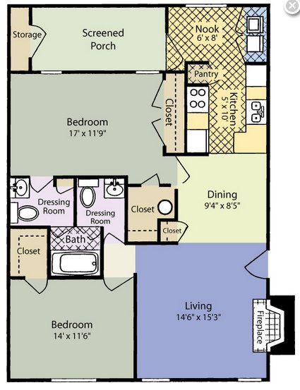 2 Bedrooms 1 Bathroom Apartment for rent at Woodland Court in Raleigh, NC
