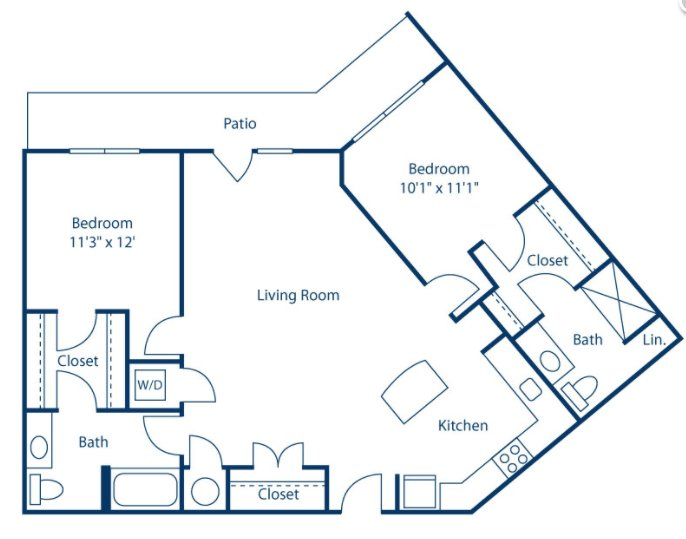 2 Bedrooms 2 Bathrooms Apartment for rent at Park And Market in Raleigh, NC