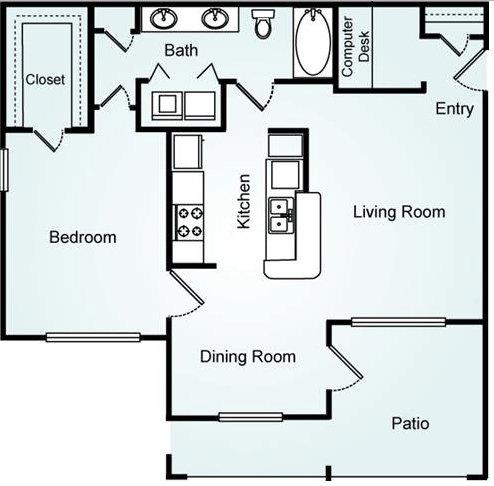 1 Bedroom 1 Bathroom Apartment for rent at Lodge At Mallard Creek in Charlotte, NC