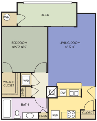 1 Bedroom 1 Bathroom Apartment for rent at Northlake in Charlotte, NC