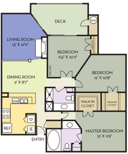 3 Bedrooms 2 Bathrooms Apartment for rent at Northlake in Charlotte, NC