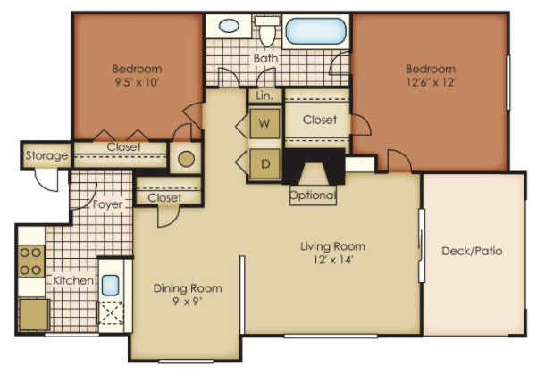 2 Bedrooms 1 Bathroom Apartment for rent at One Norman Square in Cornelius, NC