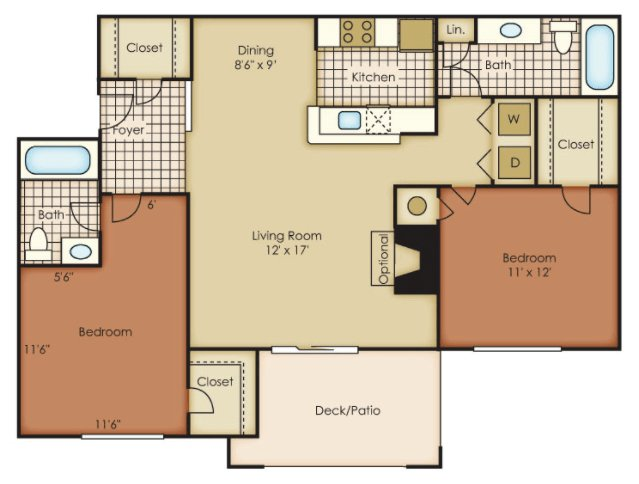 2 Bedrooms 2 Bathrooms Apartment for rent at One Norman Square in Cornelius, NC