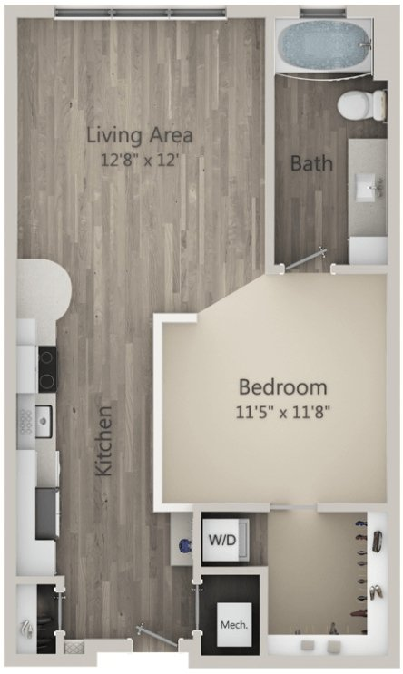 Studio 1 Bathroom Apartment for rent at Mayfaire Flats in Wilmington, NC