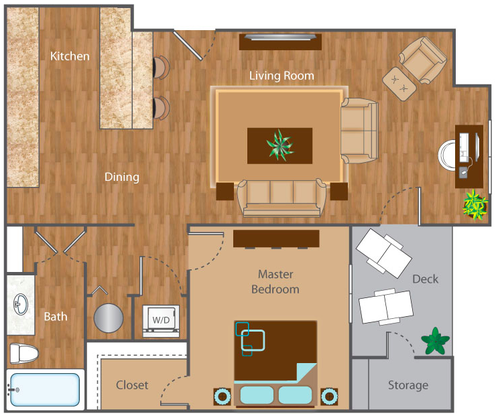 1 Bedroom 1 Bathroom Apartment for rent at The Reserve At Mayfaire in Wilmington, NC