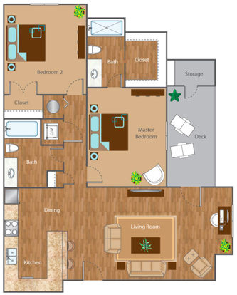 2 Bedrooms 2 Bathrooms Apartment for rent at The Reserve At Mayfaire in Wilmington, NC
