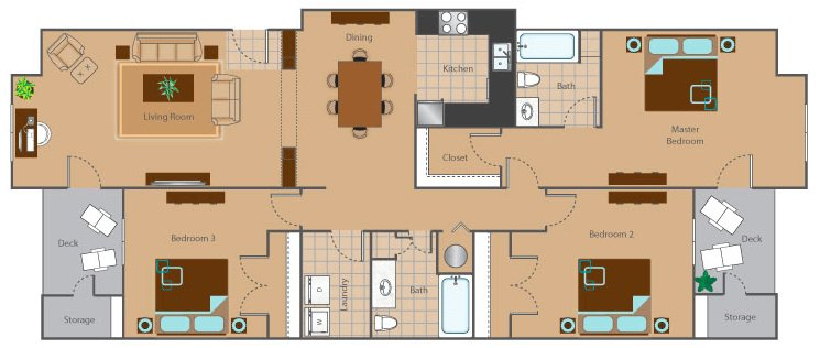 3 Bedrooms 2 Bathrooms Apartment for rent at The Reserve At Mayfaire in Wilmington, NC