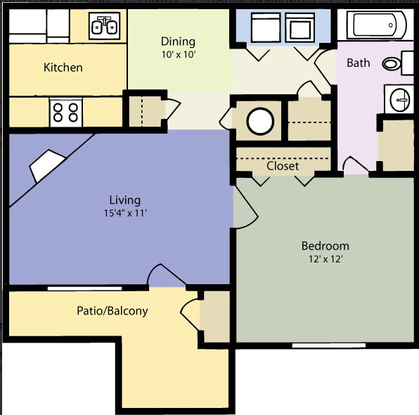 1 Bedroom 1 Bathroom Apartment for rent at Sharon Crossing in Charlotte, NC