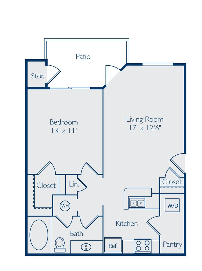1 Bedroom 1 Bathroom Apartment for rent at Bell Apex in Apex, NC