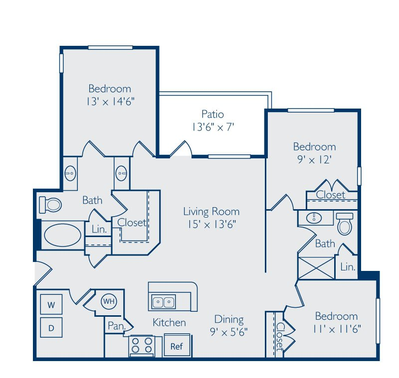 3 Bedrooms 2 Bathrooms Apartment for rent at Bell Apex in Apex, NC