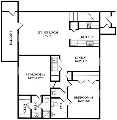 2 Bedrooms 2 Bathrooms Apartment for rent at Edwards Mill in Raleigh, NC