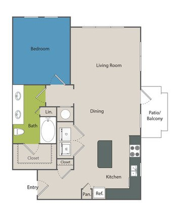 1 Bedroom 1 Bathroom Apartment for rent at Marq At Crabtree in Raleigh, NC