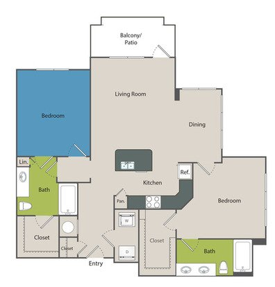 2 Bedrooms 2 Bathrooms Apartment for rent at Marq At Crabtree in Raleigh, NC