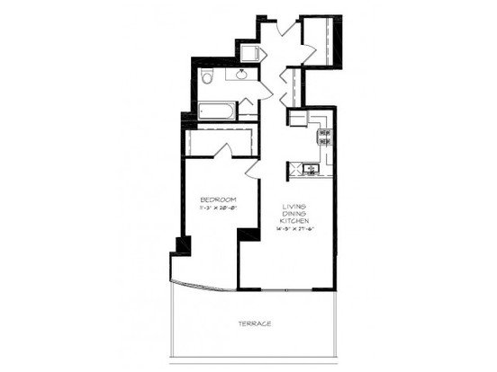 1 Bedroom 1 Bathroom Apartment for rent at Astoria Tower in Chicago, IL