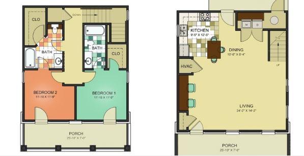 2 Bedrooms 2 Bathrooms Apartment for rent at Savannah Square in Auburn, AL