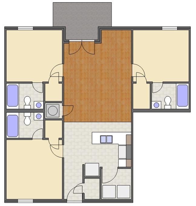3 Bedrooms 3 Bathrooms Apartment for rent at Regency Square Condos in Auburn, AL