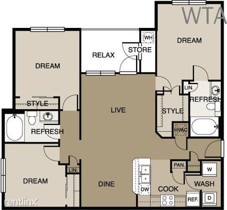 3 Bedrooms 2 Bathrooms House for rent at Lake Travis in Austin, TX