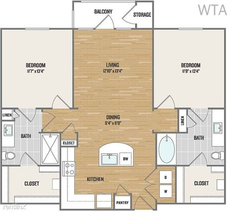 2 Bedrooms 2 Bathrooms House for rent at Wells Branch/ Mopac in Austin, TX