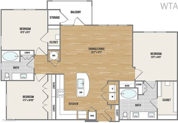 3 Bedrooms 2 Bathrooms House for rent at Wells Branch/ Mopac in Austin, TX