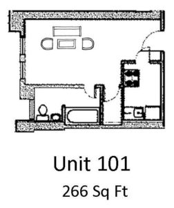 Studio 1 Bathroom Apartment for rent at The Anderson Building in Omaha, NE