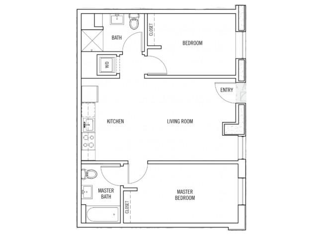 2 Bedrooms 2 Bathrooms Apartment for rent at K14 in Eugene, OR