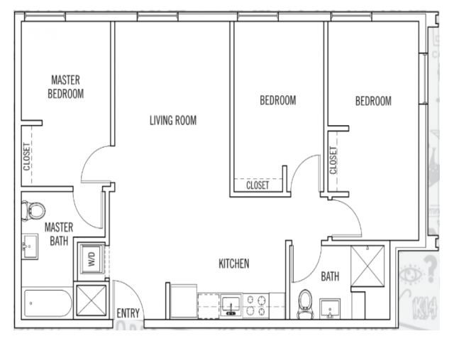 3 Bedrooms 2 Bathrooms Apartment for rent at K14 in Eugene, OR