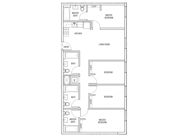 4 Bedrooms 3 Bathrooms Apartment for rent at K14 in Eugene, OR