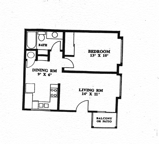1 Bedroom 1 Bathroom Apartment for rent at Broadway Center Apartment in Eugene, OR