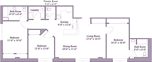 3 Bedrooms 3 Bathrooms Apartment for rent at First Place Apartments in Dayton, OH