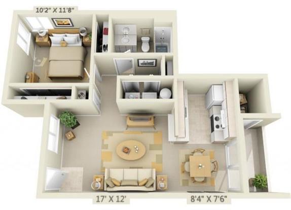 1 Bedroom 1 Bathroom Apartment for rent at Creekside Village in Eugene, OR