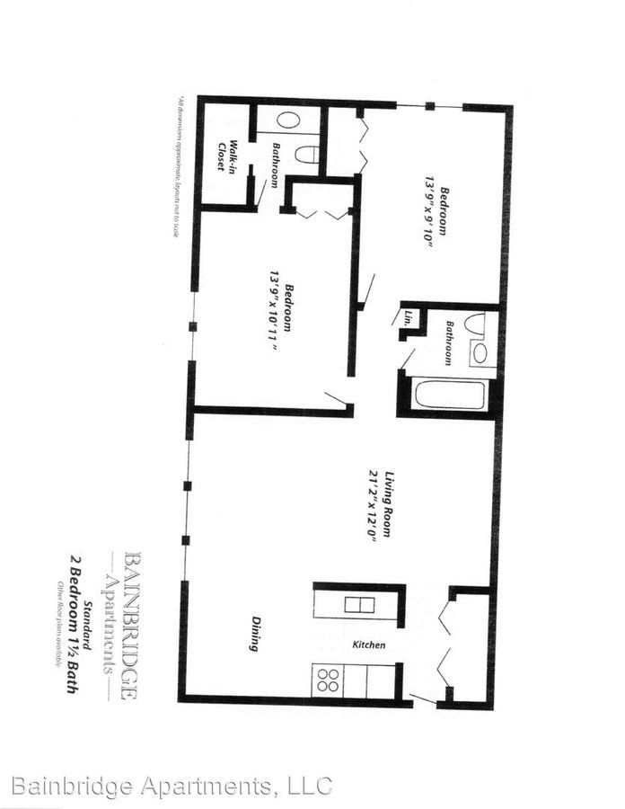 2 Bedrooms 1 Bathroom Apartment for rent at 290 S Beau Drive in Des Plaines, IL