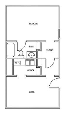 Studio 1 Bathroom Apartment for rent at The Garden District in Auburn, AL