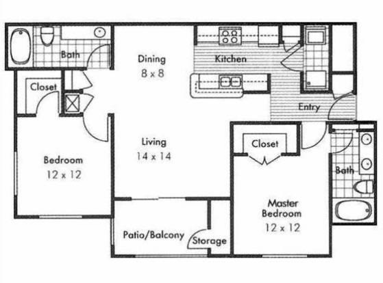 2 Bedrooms 2 Bathrooms Apartment for rent at Kensington Park in Corinth, TX