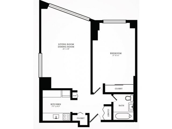 1 Bedroom 1 Bathroom Apartment for rent at 1350 North Lake Shore Drive in Chicago, IL